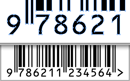 BookBarcode builds pure vector barcodes, straight in InDesign.