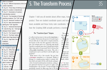 Chapter 5 investigates the transform() method.