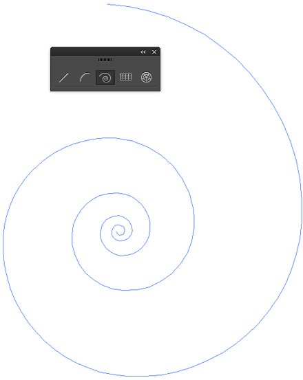 The Spiral Tool (Illustrator) only builds logarithmic spirals.