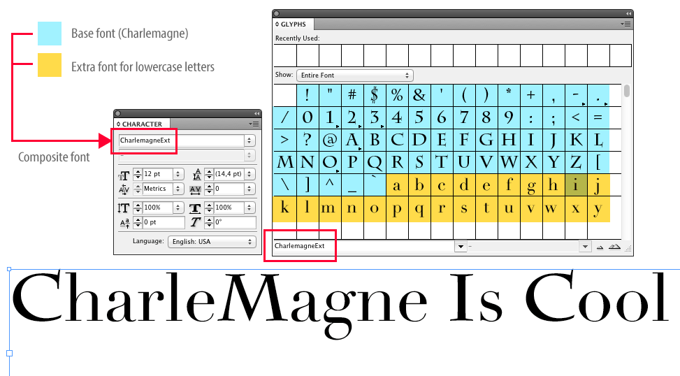 how to put fonts into indesign documents