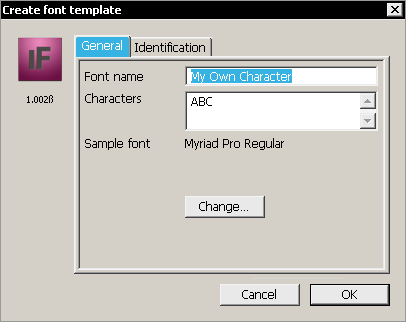 IndyFont Main Dialog (original demo version, which is now obsolete).