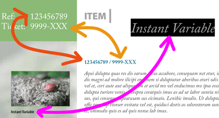 InstantVariable for InDesign CS6/CC
