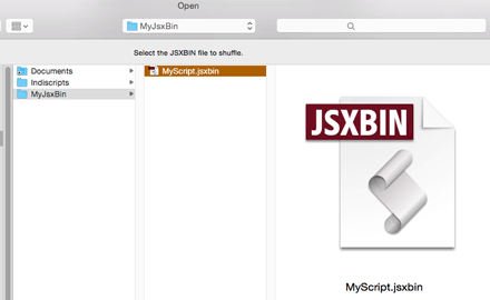 Select the JSXBIN file you want to re-encode.