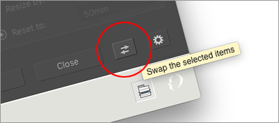 The Swap button is also available in Equalizer's main dialog.
