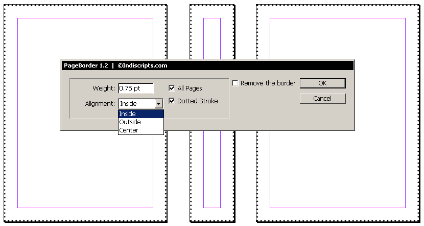 how to change units and increments in indesign windows