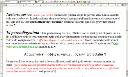 "Not-so-fictitious example of an highly formatted text you were supposed to ""copy-paste"" into InDesign."
