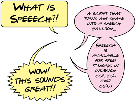 Speeech for InDesign CS4/CS5/CS6/CC allows you to quickly create nice speech balloons.
