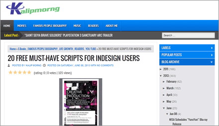 """20 FREE MUST-HAVE SCRIPTS FOR INDESIGN USERS"" by Kalip Morng (EN)"