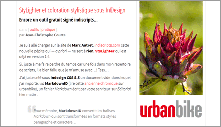 """StyLighter et coloration stylistique sous InDesign"" by Jean-Christophe Courte (FR)"