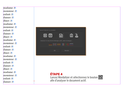 Étape 4. — Sélection de la source : document InDesign.