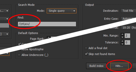 Step 2 — Run IndexMatic and adjust your settings (scope, style, query, etc.)