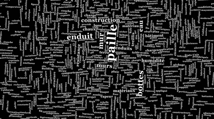 Black-and-white word cloud.